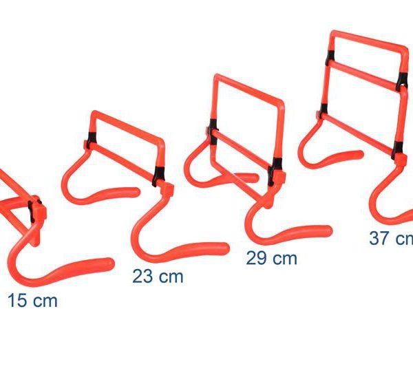 Plastová prekážka nastaviteľná -15-23-28-38 cm
