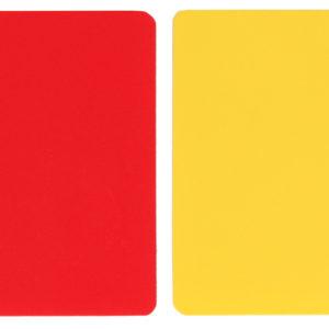 karty pre rozhodcov                                                    červená + žltá