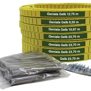 umelé lajny Geniala šírky 4 cm alebo 5 cm                              žlté