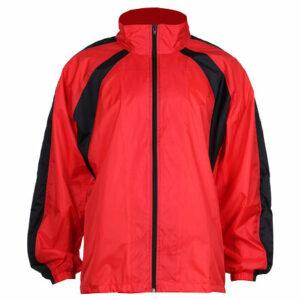 NJ-4 šustiaková bunda červená-čierna veľkosť oblečenia