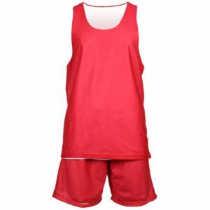 BD-1 basketbalový komplet červená-biela veľkosť oblečenia