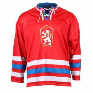 Replika ČSSR 1976 hokejový dres červená veľkosť oblečenia