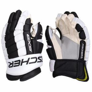 "SX9 SR hokejové rukavice čierna-biela dĺžka 13"""