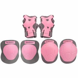 Junior sada in-line chráničov ružová veľkosť oblečenia S