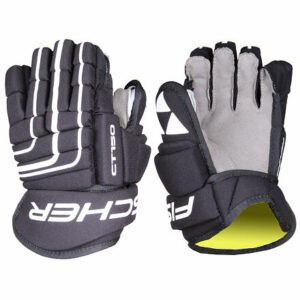 CT150 Yth hokejové rukavice čierna-biela dĺžka