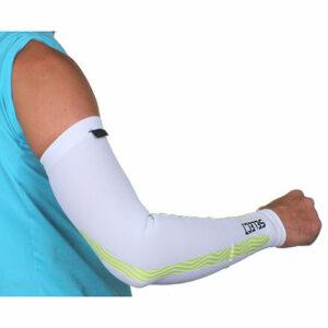 Compression Sleeves kompresné návleky na ruky biela veľkosť oblečenia