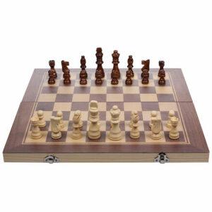 Drevené šachy 3v1 varianta 31091