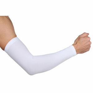 Premium Arm kompresné návleky na ruky biela veľkosť oblečenia