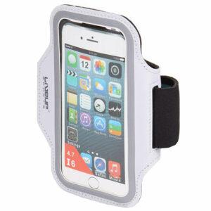 Športové puzdro pre mobilný telefón na paži biela rozmer 4