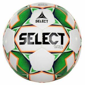 FB Futsal Attack futsalová lopta biela-zelená veľkosť plopty č. 4