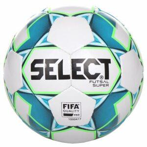 FB Futsal Super futsalová lopta biela-modrá veľkosť plopty č. 4