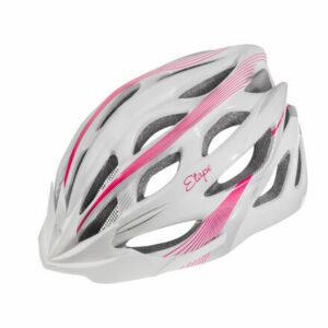 Vesper cyklistická prilba biela-ružová veľkosť oblečenia