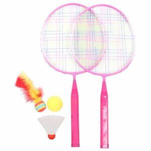 Training Set JR badmintonová sada ružová varianta 39204