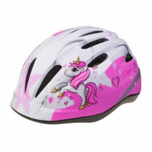 Rebel detská cyklistická prilba biela-ružová veľkosť oblečenia