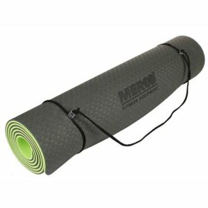 Yoga TPE 6 Double Mat podložka na cvičenie čierno-zelená varianta 40619