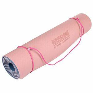 Yoga TPE 6 Double Mat podložka na cvičenie ružová-modrá varianta 40620