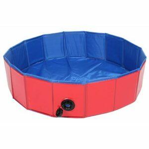 Splash bazén pre psy červená priemer