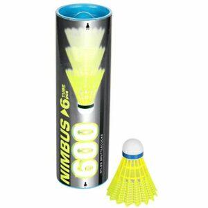Nimbus 600 badmintonové loptičky modrá balenie tuba 6 ks