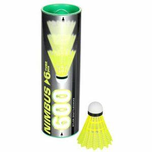 Nimbus 600 badmintonové loptičky zelená balenie tuba 6 ks