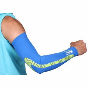 Compression Sleeves kompresné návleky na ruky modrá veľkosť oblečenia