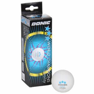 P40+ 3 hviezdičky loptičky na stolný tenis biela balenie 3 ks