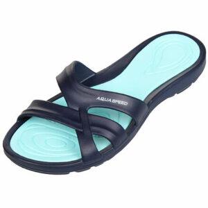 Panama dámske pantofle tm. modrá veľkosť (obuv)