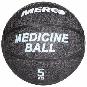 Black gumená medicinbalová lopta hmotnosť 5 kg