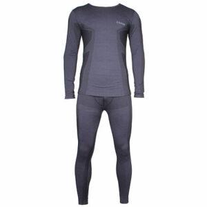 Merino MEN pánsky funkčný set čierna veľkosť oblečenia