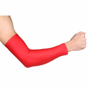 Premium Arm kompresné návleky na ruky červená veľkosť oblečenia